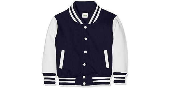 Awdis Bambino oxford Navywhite Varsity Cappuccio Kids Blu Jacket v1ArFwSqv