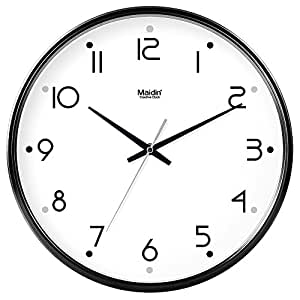 Babyqueen 10 Inch Calendar Round Home Decoration Wall Clock Living Room Bedroom Mute Fashion