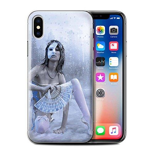 Offiziell Elena Dudina Hülle / Case für Apple iPhone X/10 / Durch Den Wind Muster / Einer mit Natur Kollektion Winter Maske