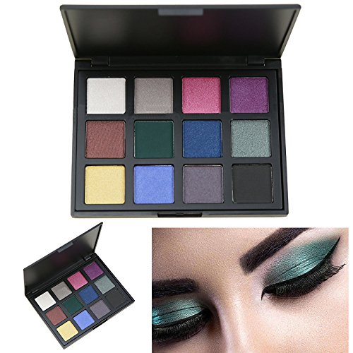 AMBITO Neutral Warme Lidschatten Kosmetic Makeup Set 12 Farben Profi Lidschatten Palette Make Up Kosmetik Eyeshadow Augenpalette - (Tutorial Make Schwarz Up)