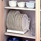 #3: HOME CUBE® Folding Plastic Kitchen Dish Rack Stand Plate Holder ,1 Piece, Random