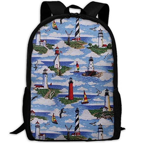 Big Pony Oxford (best& Stylish Lighthouses Scene Big Sable Laptop Backpack School Backpack Bookbags College Bags Daypack)