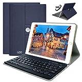 Coque iPad Clavier AZERTY Français pour Nouvel iPad 2018/ iPad 2017/ iPad Pro 9,7/ iPad Air 2&1,...