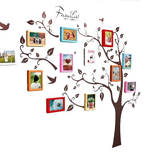 Fotowand Foto-Wand, 7 Zoll-Rahmen-Wand-Aufkleber, Gaststätte-Schlafzimmer-Wohnzimmer-Büro-Fotowand, große Wand 12 Rahmen-kreative Wand-Verzierung ( Farbe : 5# )