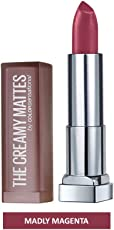 Maybelline New York Color Sensational Creamy Matte, 638 Madly Magenta, 3.9g