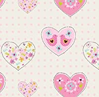 Debona Wallpaper Amour Hearts Pink 6340 from Debona