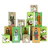Papierdrachen DIY Adventskalender Kisten Set - Motiv Krippenspiel - 24 Bunte Schachteln aus Karton zum Aufstellen und zum Befüllen - 24 Boxen - Weihnachten 2018