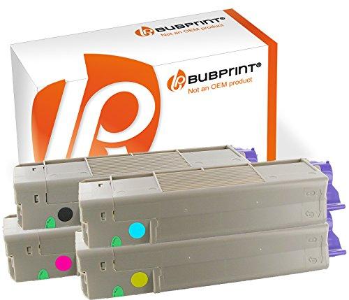Bubprint® 4 Toner-Kartuschen kompatibel für OKI C5850 C5950 MC560 Multipack SET schwarz...