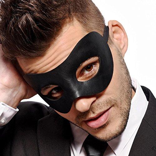 �-Herren Schwarz Masquerade Maske-Kunstleder-Venetian-Herren-Unisex-Fancy Ware ()