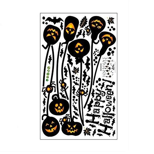 ARAYACY Innovative Halloween Dekorative Wand/Spukhaus Wohnzimmer Patty Kürbis Kronleuchter Grün Wandaufkleber/PVC Selbstklebende Papier (Autos Schablonen Halloween-kürbis)