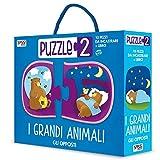I grandi animali. Gli opposti. Puzzle 2. Ediz. illustrata. Con puzzle