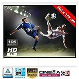 Bakaji Schermo per Proiezione Videoproiettore 100' Home Cinema Telo Proiettore 203 x 152 cm FULL HD...