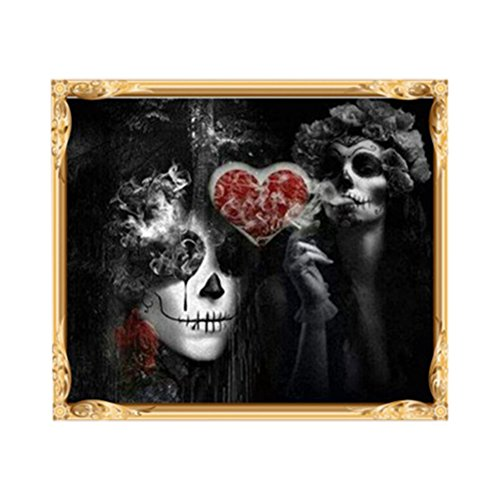 VEMOW Ausverkauf Angebote Halloween Party Dekoration DIY 5D Diamant Stickerei Malerei Schädel Kreuzstich Handwerk Wohnkultur Wandtattoo 30 x 40cm (Ich Halloween Kostüm Party)
