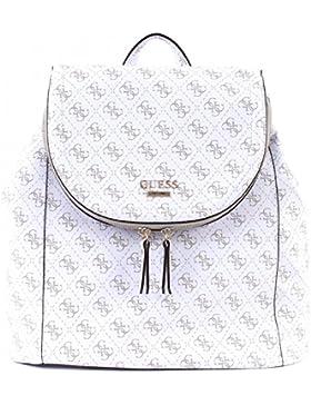 Guess Damen Hwlg6432320 Rucksackhandtasche, Weiß (Bianco), 18x34x33 centimeters