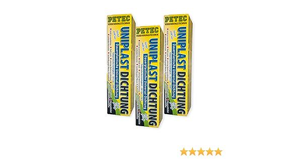 Petec Bundle 3x Petec Uniplastdichtung Universaldichtung Abdichtung Dichtmasse 80 Ml 97510 Auto