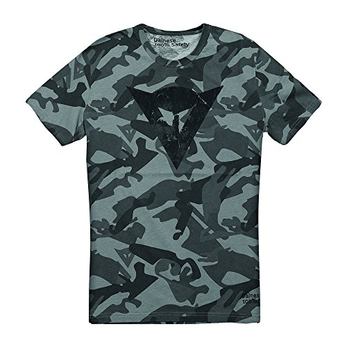Dainese T-Shirt Camo, Grau, 46 Grau