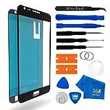 MMOBIEL Front Glas Reparatur Set kompatibel mit Samsung Galaxy Note 2 N7100 Series (Schwarz) Display mit Werkzeug-Set