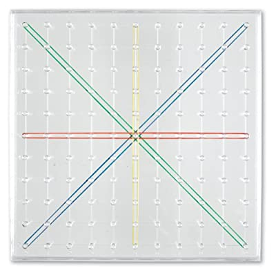 Learning Resources 11 x 11 Pin Transparent Geoboard from Learning Resources (UK Direct Account)