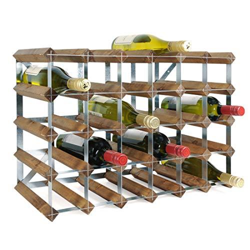 Weinregal/Flaschenregal System TREND–Weinregal aus Kiefer gebeizt, komplett montiert,...