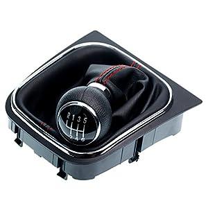 L&P Car Design GmbH A256-1 Cuffia Del Cambio Cucitura Rosso e Pomello e Telaio