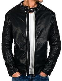 hombre Amazon de Ropa Chaquetas BOLF es abrigo cuero chaqueta qOFPwOTRt 1c1de5e44ace