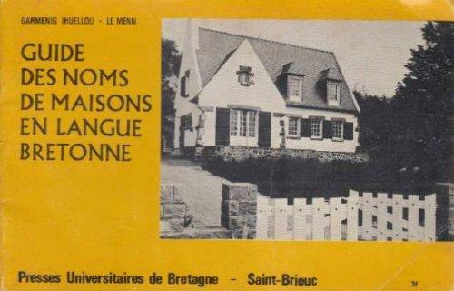 Guides des noms de maisons en langue bretonnePDF  livres