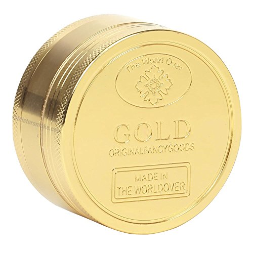 1 GRINDER POLINATOR GOLD COULEUR OR 3 PARTIES 49X27 CM moulin a tabac