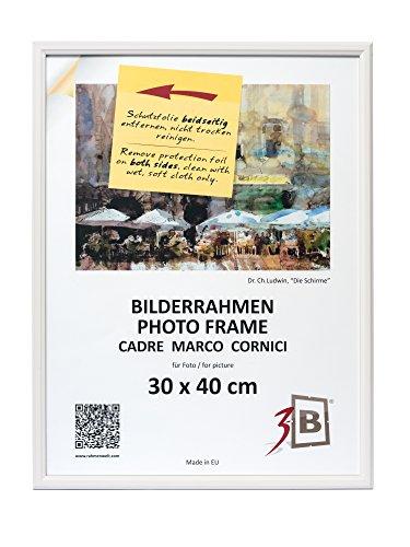 Conjunto de 2 piezas JENA marco - 30x40 cm - blanco - madera sólida marcos, marcos de fotos