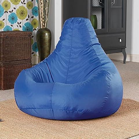Designer Recliner Gaming Bean Bag BLUE - Indoor & Outdoor Beanbag Chair (Water Resistant) by Bean Bag