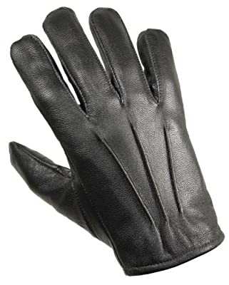 Protec Kevlar Anti Slash And Fire Resistant Black Leather Glove Large