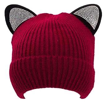 Immagine non disponibile. Immagine non disponibile per. Colore  Toocool -  Cappello Donna Cappellino Cuffia Berretta Beanie Orecchie Gatto ... a0cb0f995496