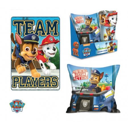 Paw Patrol Kissen & Fleece-Decke SET