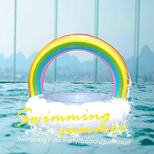 Prom-near Erwachsene Aufblasbare Regenbogen Wolke Geformte Schwimmring Mit Schnellventile Große Boje Pool Party Schlauchboot Floß Lounge In Stil Für Sommer
