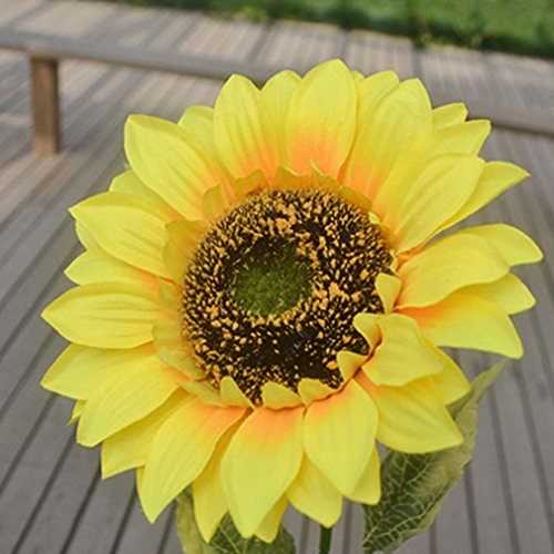 ALCYONEUS 1 künstliche Blume, lebendige, große, künstliche Sonnenblume, Dekoration für Ihr Zuhause, Ihren Garten oder Ihren Zaun.