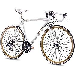 CHRISSON - VINTAGE ROAD 1.0 Bicicleta de carretera, tamaño 28'' (71,1 cm), color blanco matt, 14 velocidades Shimano