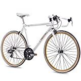 CHRISSON - VINTAGE ROAD 1.0 Bicicleta de carretera, tamaño 28'' (71,1 cm), color blanco matt,...