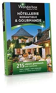 WONDERBOX - Coffret cadeau - HOTELLERIE ROMANTIQUE & GOURMANDE