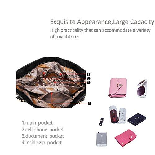 NICOLE&DORIS nuova borsa della donna di marea borse atteggiamento freddo spalla Messenger Bag moda atmosferico mano(Pink) zaffiro