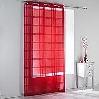 douceur d interieur sable raye peps cortina - Cortinas Rojas