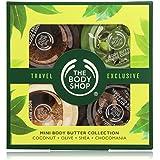 The Body Shop - Colección de mini mantecas corporales - Coco + Oliva + Karité + Chocomania - 4 x 50 ml