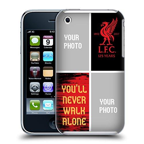 Personalizzata Personale Liverpool Football Club Liver Bird Maglietta Away 2017/18 Cover Retro Rigida per Apple iPhone X Youll Never Walk Alone