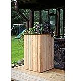 Metallmichl Hochbeet aus Lärchenholz, 60 x 60 x H 100 cm Holz Frühbeet Pflanzkasten Gemüsebeet für Garten und Balkon