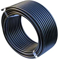 EXCOLO PE Rohr 32 mm x 50 Meter PE-HD Rohr Wasserrohr Wasser Leitung Kunststoffrohr Bewässerung Wasser Rohre schwarz