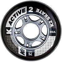 K2 - Juego de Ruedas (Paquete de 4 Unidades), 76mm, Active Wheel, Multicolor, Tamaño único, 30B3001.1.1.1SIZ