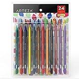 ARTEZA Juego de lápices sin madera para acuarela   Lápices de colores acuarelables   Set de 24 lapiceros ecológicos para pintar acuarelas