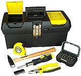 Stanley Stanley STST1-72739 Werkzeugbox mit Schraubendreher, Hammer, Kombizange, Bandmaß und Bitsatz, STST1-72739