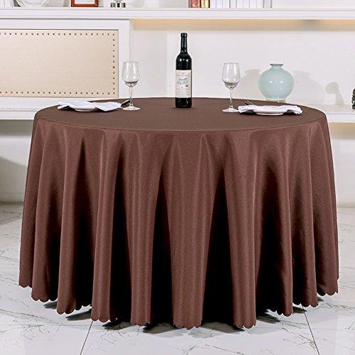 Very good KHotel Tischdecken Runden Tischdecke,Dickes Reines Schwarzem Tisch Tuch,Tischdecke Stoff Hochzeitshotel-C Durchmesser200cm(79inch)