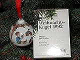 Hutschenreuther - Weihnachtskugel 1992 - Kugel aus Porzellan - NEU - OVP - 1. WAHL