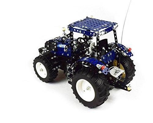 RC Auto kaufen Traktor Bild 2: Tronico 10057 - Metallbaukasten Traktor New Holland T8 mit Fernsteuerung, Profi Serie, Maßstab 1:16, 732-teilig, blau*