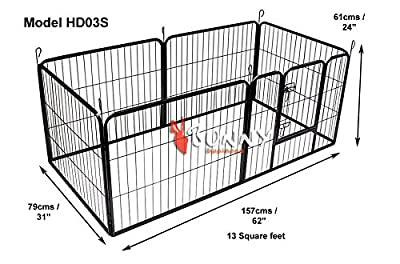 Doggy Style Heavy Duty Puppy Play Pen playpen 6 x panel whelping pen pens x 4 sizes